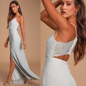 Lulu's Dresses - Lulu's Story of a Starry Night Backless Lace Maxi